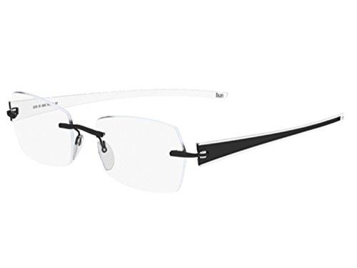 Silhouette 4312 Mens/Womens Designer Rimless Titanium Eyeglasses/Eyewear (51-19-135, Black / White)
