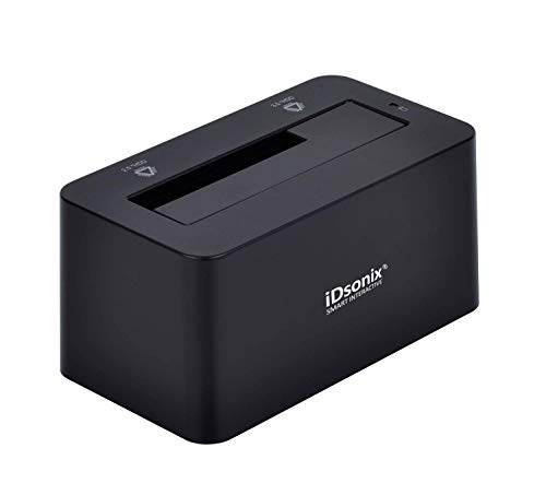iDsonix Tool Free USB 3.0/2.0 to SATA 2.5/3.5 Inch Hard Drive Docking Station with 3.3 Feet USB 3.0 Cable for HDD/SSD Support 8TB and UASP, Fast Heat Dissipation- Black