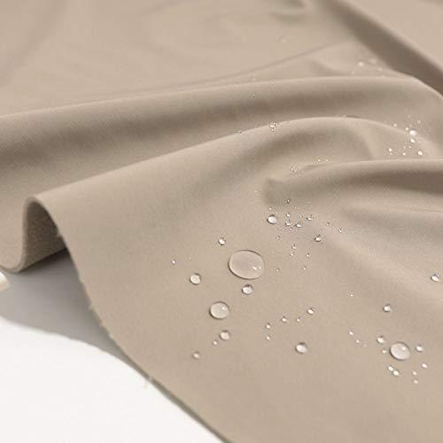 TOLKO Outdoor Softshell-Stoff | Wasserdicht Elastisch Atmungsaktiv | Allwetterstoff für Jacke Hose | 150cm breit Meterware (Beige)