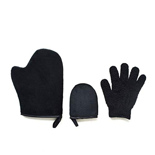 Scrub Mitt Peeling Glove Set Exfoliating Tan Removal Mitt Zelfbruiner Tool B