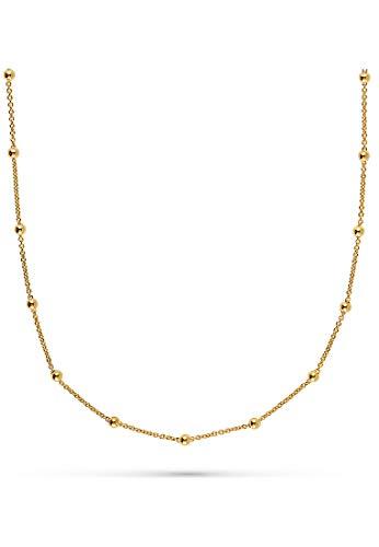 JETTE Damen-Kette Lucky Charm 925er Silber rhodiniert One Size Gold 32010381