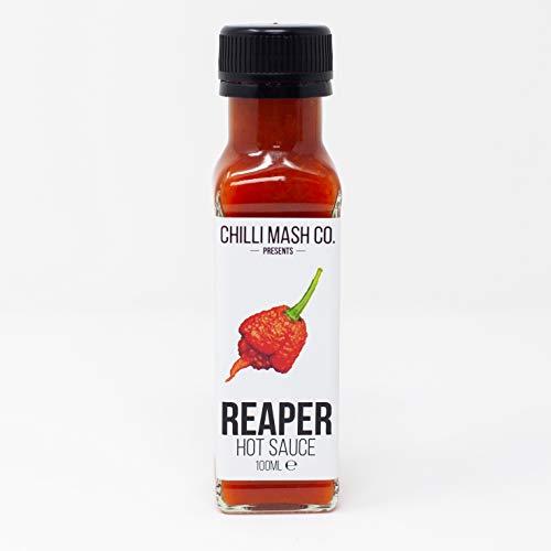 Sauce au piment fort Carolina Reaper | 100ml | Chilli Mash Company | Piment le plus chaud du monde - Chaleur époustouflante - Saveur sans fin