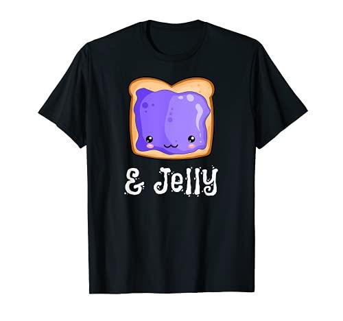 Peanut Butter & Jelly Kawaii PB&J Matching Blueberry Jam T-Shirt