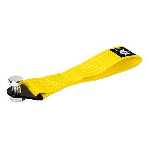 Auto-Dress Rallye Drift Schlaufe - Rennsport/Motorsport Abschlepptau Tau - Racing Hook Tow Strap - Abschleppschlaufe Schlaufe in verschiedenen Farben! (Gelb)