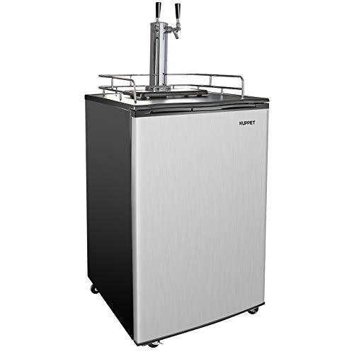 KUPPET Beer Kegerator - Full Size Stainless Steel Kegerator, Draft Beer Dispenser - Keg Beer Cooler, Compressor Cooling CO2 Regulator...
