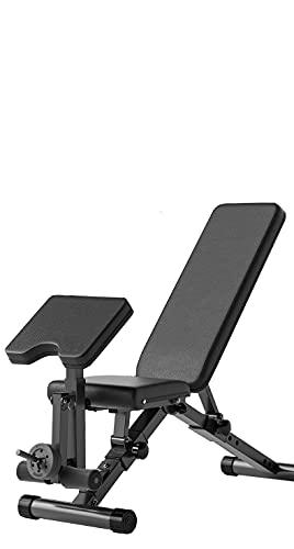 NIMO Sgabello da lavoro con manubri Fitness, multifunzione, pieghevole e regolabile, colore: nero