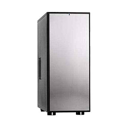 Fractal Design Define XL R2 Titanium - Full Tower Computer Case E-ATX - Optimized For High Airflow/Performance And Silent Computing with ModuVent Technology - 2x Fractal Design R2 140mm Silent Fans Included - Water-cooling ready