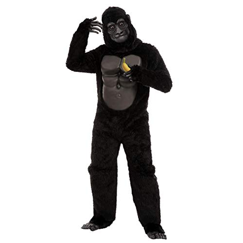 Gorilla Halloween Costume for Kids Cosplay Costume Parties (X-Large(12-14yr)) Black