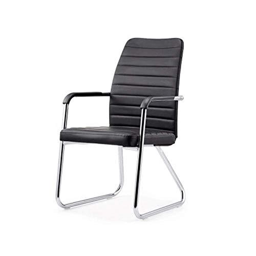 Moderne Esszimmerstühle - Bow Back Chair, imitieren die menschliche Wirbelsäule Stuhl for Zuhause/Computer/Büro/Personal/Training/Konferenz Schwarz 57x50x97CM Geeignet for Wohnzimmer, Schlaf
