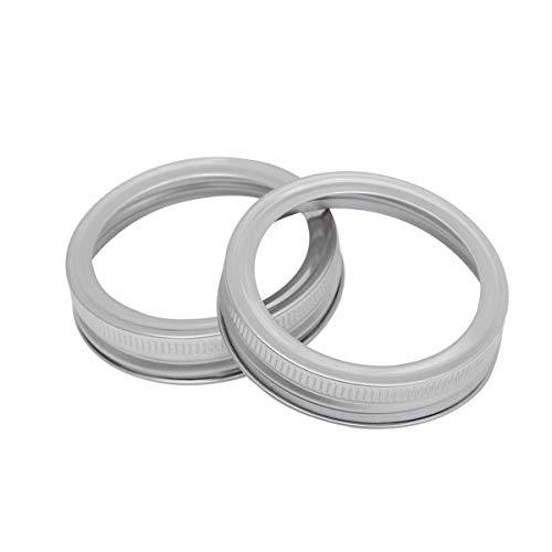 UPKOCH 5pcs Mason Jar Screw Bands, Replacement Iron Metal Rings Rustproof Ring Seals Jar Covers Rings for Mason Jar, Ball Jar, Canning