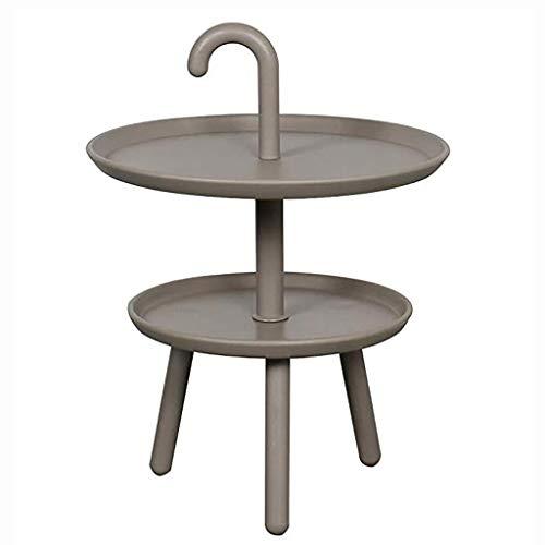 NGQDHR Canapé côté Petite Table Ronde Coins arrondis Plusieurs Table Basse en Plastique Mini Salon Table d'appoint (Couleur : D)