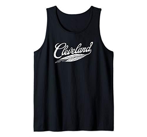 Cleveland T-Shirt Native American Feather Baseball Shirt Tank Top