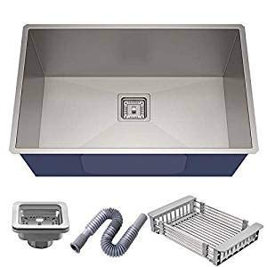 "ROYAL SAPPHIRE Stainless Steel Satin Matt Finish Single Bowl Sink with Square Coupling (24"" x 18"" x 10"")"