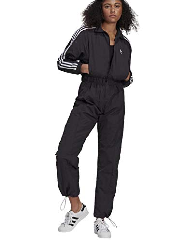 (アディダスオリジナルス) adidas Originals アディカラー クラシック ボイラースーツ ジャンプスーツ WOMEN ADICOLOR CLASSIC BOILER SUIT GN2781 BLACK (OT(XL), BLACK)