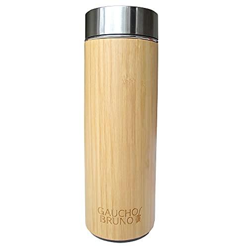 Termo de bambú para té