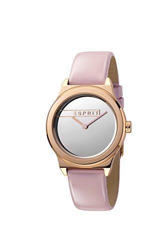 Esprit Damen Analog Quarz Uhr mit Leder Armband ES1L019L0045