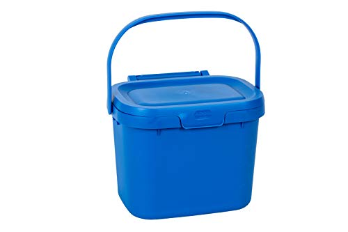 Best Prices! Addis Everyday Kitchen Food Waste Compost Caddy Bin, 4.5 Litre, Cobalt Blue