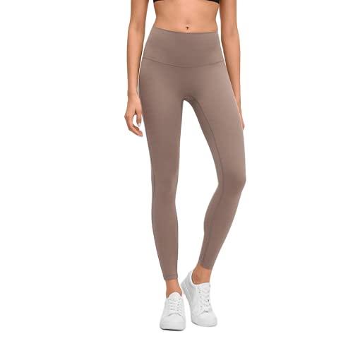 QTJY Leggings Deportivos Desnudos Suaves para Mujer, Pantalones de Yoga para Levantar la Cadera y Cintura Alta, Push-ups, Pantalones de Entrenamiento para Celulitis C S