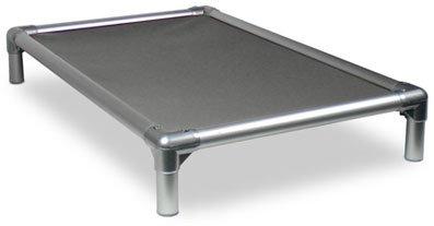 Kuranda All-Aluminum (Silver) Chewproof Dog Bed - XL (44x27) - Ballistic Nylon - Smoke
