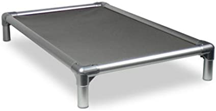 Kuranda Dog Bed - Chewproof - All Aluminum (Silver) - Indoor/Outdoor - Elevated - Bite Proof - Easy to Clean - Dries Quickly - Heavy Duty Vinyl Fabric