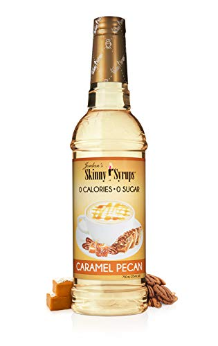 Jordan's Skinny Syrups | Sugar Free Caramel Pecan Syrup | Healthy Flavors with 0 Calories, 0 Sugar, 0 Carbs | 750ml/25.4oz Bottle