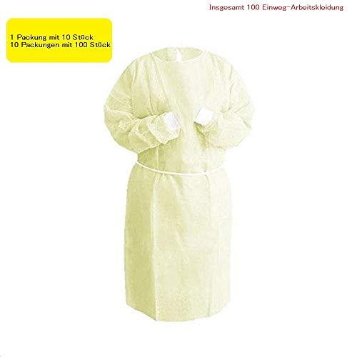 Class-Z 10 Stück Einwegoverall Schutzanzug Maleranzug Schutzkleidung Einweg Anzug (Eine Größe)