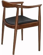 TOMILE Mid Century Modern Ash hout Kennedy stoel, Massief hout en PU stoel eetkamer stoel