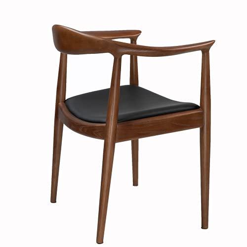 TOMILE Kennedy presidente sillas para comedor roon, sala de reuniones y sala de estar, silla morden de mediados de siglo con asiento de PU, Hans Wegner la silla