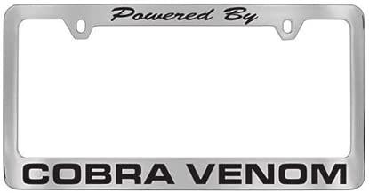 Ford Powered By Cobra Venom Chrome License Plate Frame
