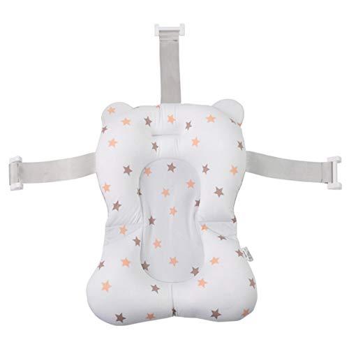 precauti Baby Badende Baby Badewanne Pad Baby Badekissen Weiche rutschfeste Baby Badewatte Matte Bequeme schwimmende Badewanne für Neugeborene Kleinkind 0-18 Monate Baby