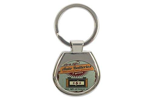 LEotiE SINCE 2004 Porte-clés étiquette de bagage Clé de la moto Conception du Garage Batteries d'Auto imprimées