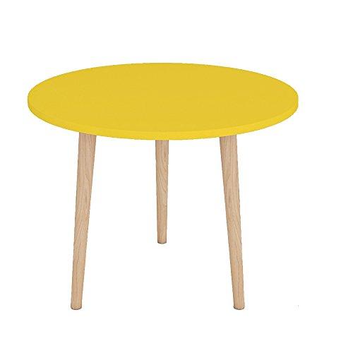 JU FU Salon Chambre Balcon Petite table basse Table à manger Table à thé Bureau d'ordinateur Simple Table Mini Table de chevet Table ronde Table d'appoint Table d'angle Petite Table ronde Canapé Bord