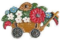Anstecker Blumenwagen