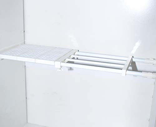 Adjustable Closet Shelf Storage Rackjoytiger Cabinet Organizer Shelf Divider Layered Partition DIY Expandable Separator for Wardrobe Cupboard Kitchen Bathroom Bookcase 189-315945inch48-8024cm