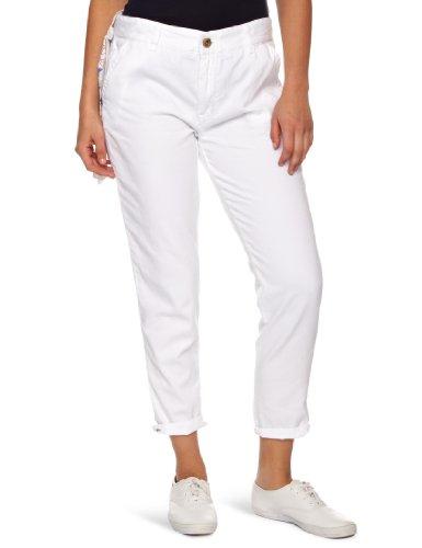 Wrangler Jen Jeans recortados para Mujer, Blanco, W32INXL34IN