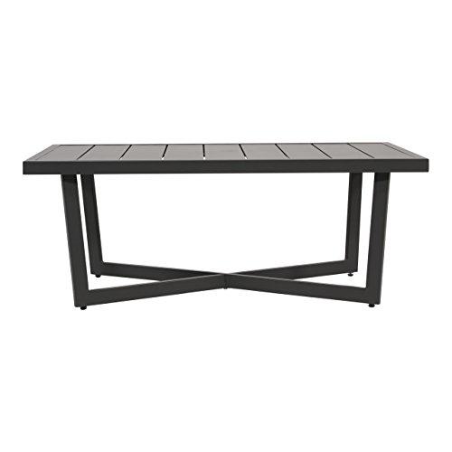 lifestyle4living Gartentisch aus Aluminium in anthrazit, 117x60 cm, wetterfest. Ideal als Garten, Balkon-Tisch & Terrassentisch.