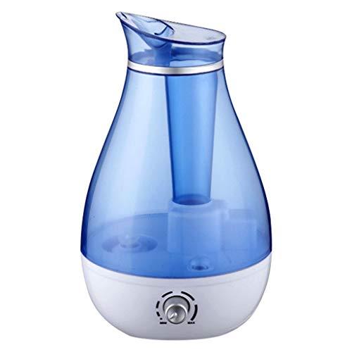 JHTTDZH 2.5L Luftbefeuchter, Nebel Ultraschall Luftbefeuchter Schaltet Sich Automatisch Ohne Wasser Ab, Geeignet Für Home Office Spannung 110-220V(Color:Blau,Size:110V)