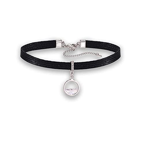 WDBUN Collar Colgante Joyas Collares de Mujer Joyas Niñas Todo-fósforo Collares de niñas Princesa Moda Cadena de clavícula Collar de bebé Regalos para Mujer Hombre