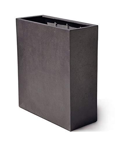 VAPLANTO® Pflanzkübel HIGH Box 60 Espresso Anthrazit Raumteiler * 60 x 24 x 74 cm * 10 Jahre Garantie