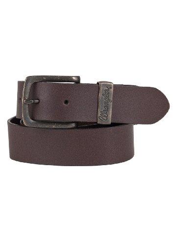 Wrangler Herren Jeans Leder Gürtel Double Stitched Belt W0080US85 brown