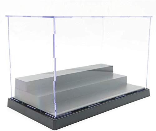 ELEpure Caja de exhibición de acrílico Transparente de 3 Niveles, ensamblaje de mostrador de Almacenamiento, Cubierta Antipolvo, Vitrina de Figura de acción Pop, Juguetes coleccionables (21x11x13cm)