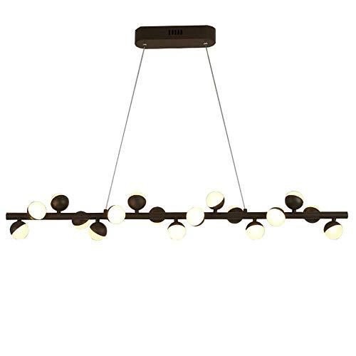 Xiao Fan Postmodern Modular smeedijzeren kroonluchter creatieve persoonlijkheid kunst Magic Bean aluminium hanglamp Nordic Designer restaurant plafondlamp (kleur: zwart)