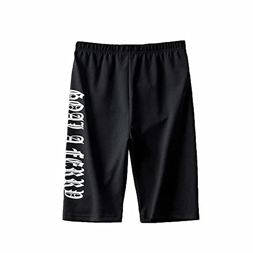 ArcherWlh Work out Pants,Pantalones Cortos de Fitness de Yoga 2021 Verano Nuevo Nuevo Europeo y Americano Letters Letters Casual Five Pants-Negro_S