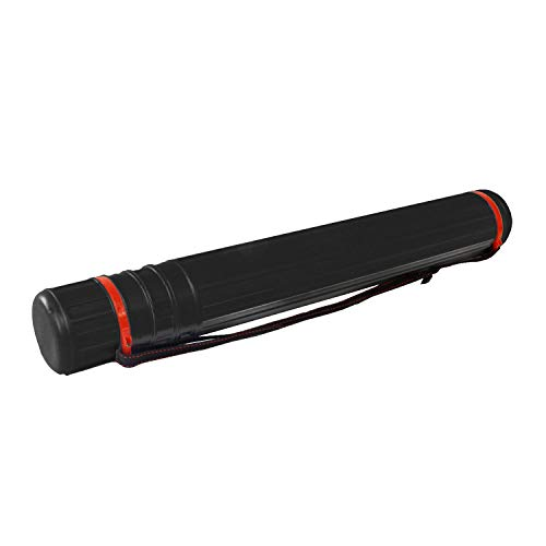 US Art Supply Black Telescoping Drafting Tube - Outside Diameter: 3-1/4