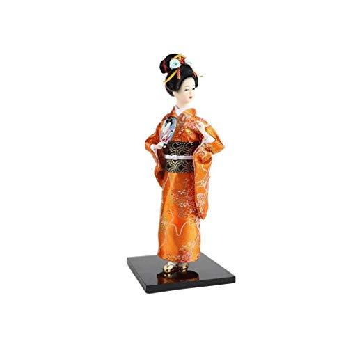 lachineuse Muñeca Japonesa Kimono Naranja