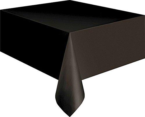 NET TOYS Folien Tischdecke schwarz 137 x 274 cm Tisch Decke Halloween Dekoration Tischdekoration Tischdeko