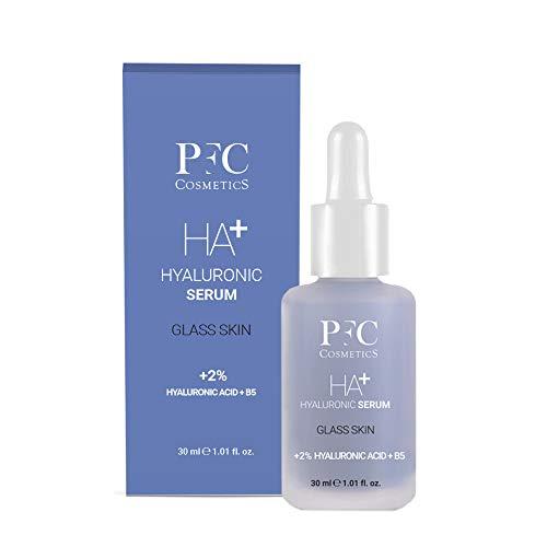 PFC Cosmetics - Serum Facial Hyaluronic Serum Ultra Hidratante 30ml Tratamiento para Piel Más Tersa Suave Efecto Glass Skin Crema Ligera Antienvejecimiento Natural para Cuidado Personal de Cara y Piel