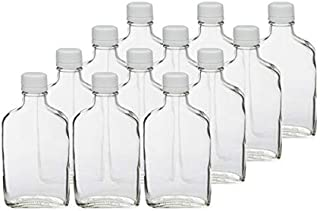 200 ml Clear Glass Flask (Tamper Evident Cap) Case 12 by Berlin Packaging