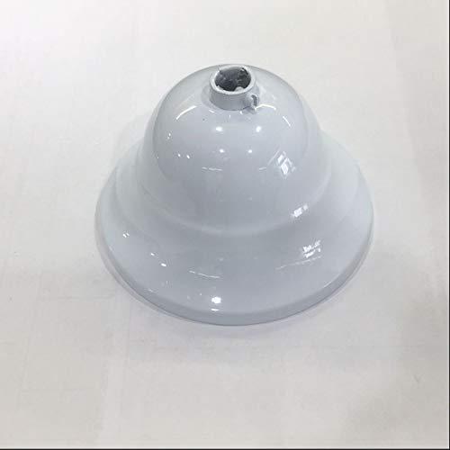 Rosetón cubre cables metálico envejecido blanco para lámparas de techo