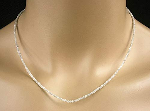 Diamant Collier in weiß, Rohdiamanten, 15 ct, Seltenheit!